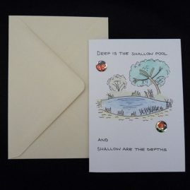 Nature Scene and Quote Blank Card 2 (Medium)