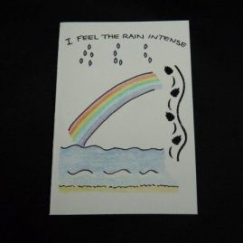 Rainbow and Quote Blank Card 3 (Medium)