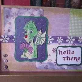 princesskitten handmade dragon card 1