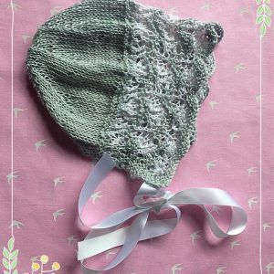 Hand knitted Bonnet Traditional Vintage baby toddler