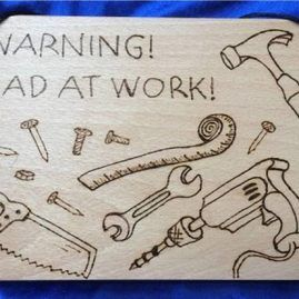 dad at work sign