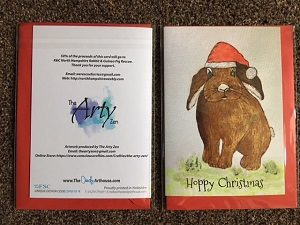 Bunny Rabbit Charity Christmas Greeting Card