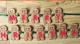 gingerbread man christmas bunting