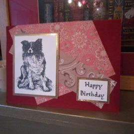 princesskitten handmade cards birthday collie dog 1