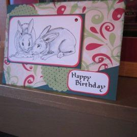 princesskitten handmade cards birthday rabbit 1