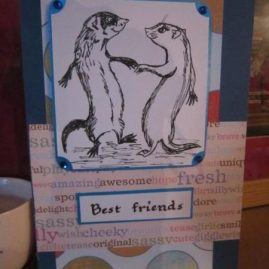 princesskitten handmade cards ferret best friends 4