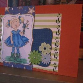 princesskitten handmade cards plain girl flowers 1
