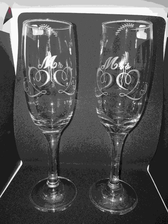 Champagne Flutes Wedding Gift Valentines Day Conscious Crafties