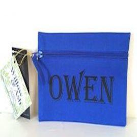 Personalised pencil case – blue