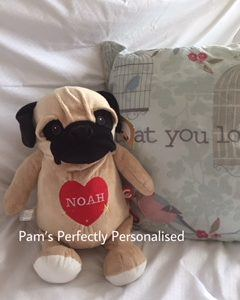 Pug cubby personalised