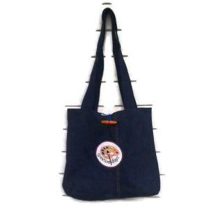 Personalised denim tote bag shopper bag
