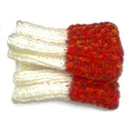 cream orange boot cuffs