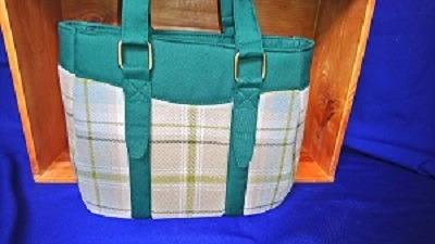 green tweed bag 1