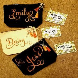 personalised make up bags x 3 a
