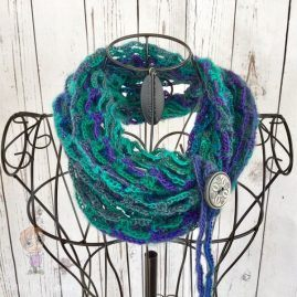 Hand Crocheted Artfully Simple Infinity Scarf (69)