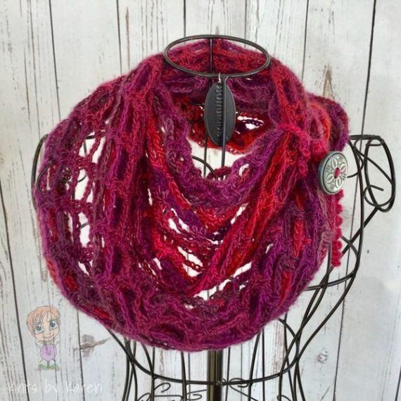 Hand Crocheted Artfully Simple Infinity Scarf