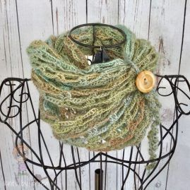 Hand Crocheted Artfully Simple Infinity Scarf (70)