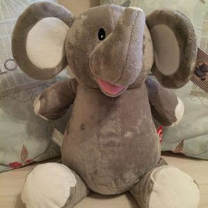 Personalised Grey Elephant Cubby Bear Cuddly Toy