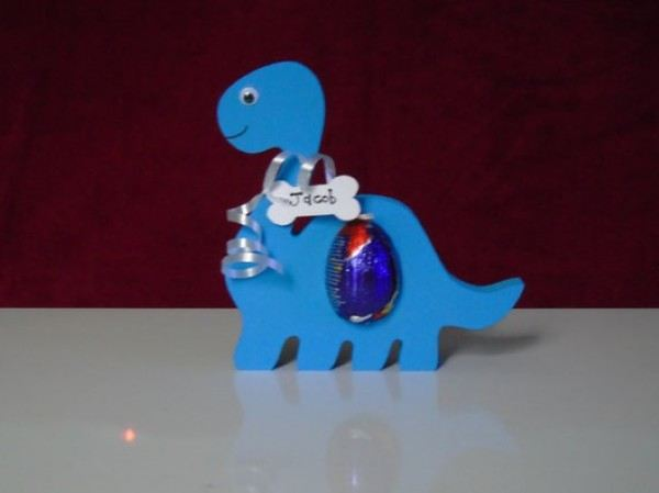 Personalised Dinosaur Egg Holder Conscious Crafties