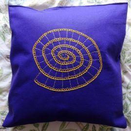 Cushion Purple and Gold Ammonite A