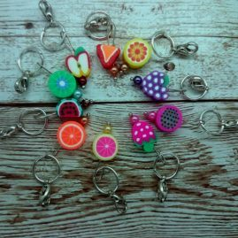 Fruit stitch markers