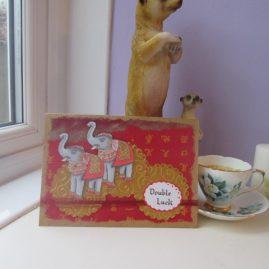 princesskitten handmade cards elephant luck 4