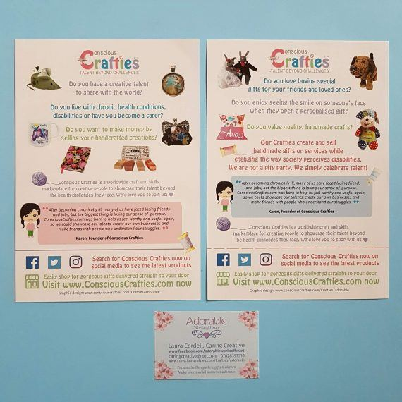 Conscious Crafties marketing flyers leaflets