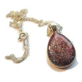 Galaxy mermaid pendant
