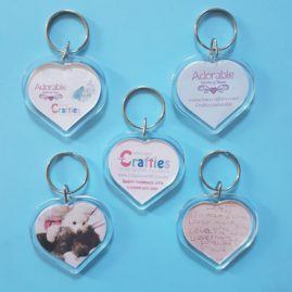 Logo keyrings conscious crafties