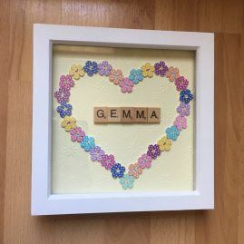 Personalised heart box frame