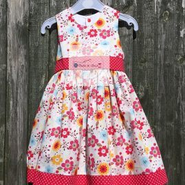floral dress spotty banding