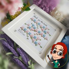 teacher gift frame owl-368×368