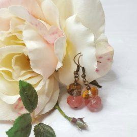 Cherry Quartz Drop Earrings (2)