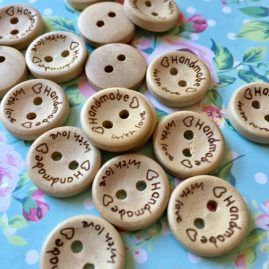 Handmade wood buttons