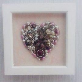 'Heart' Jewellery art box frame 2