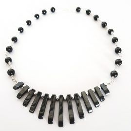 Hematite Bib Necklace (4)
