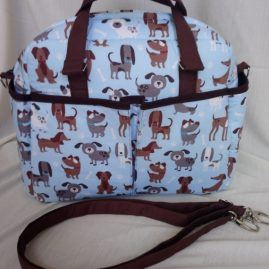 dogs fabric baby changing bag