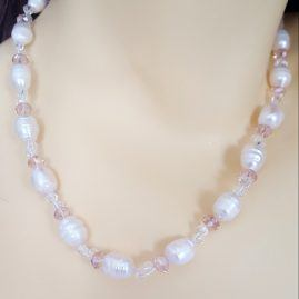 Twist Crystal & Pearl Wedding necklace (5)