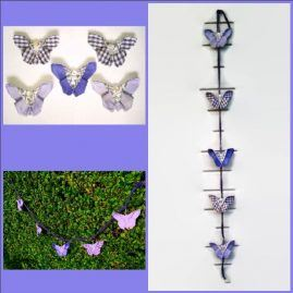 butterfly bunting collage