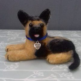 Alsatian dog ( Archie) – Needle felted