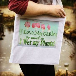 I Love My Garden Tote White 2