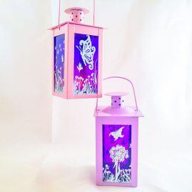 Lantern Tea Light Butterfly Moorland Design 1