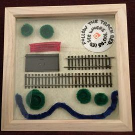Railway Track Art Box Frame A1 (Medium)
