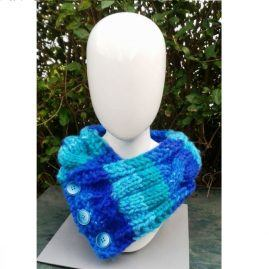 blue green scarf front