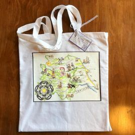 Yorkshire Tote Bag White 4