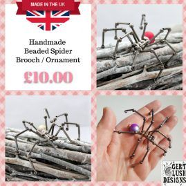 Quirky Novelty Beaded Spider Ornament And Brooch