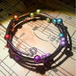 Rainbow Beaded Wrap Around Style Bracelet 2