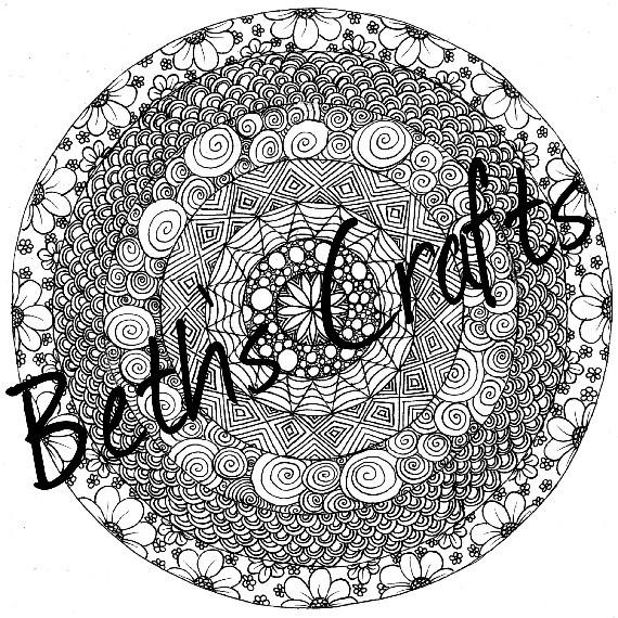 Circles Design Adult Colouring Page, Doodle Art, PDF/JPG Zentangle - Conscious Crafties