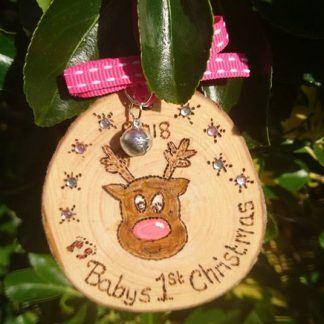 Baby reindeer christmas decoration