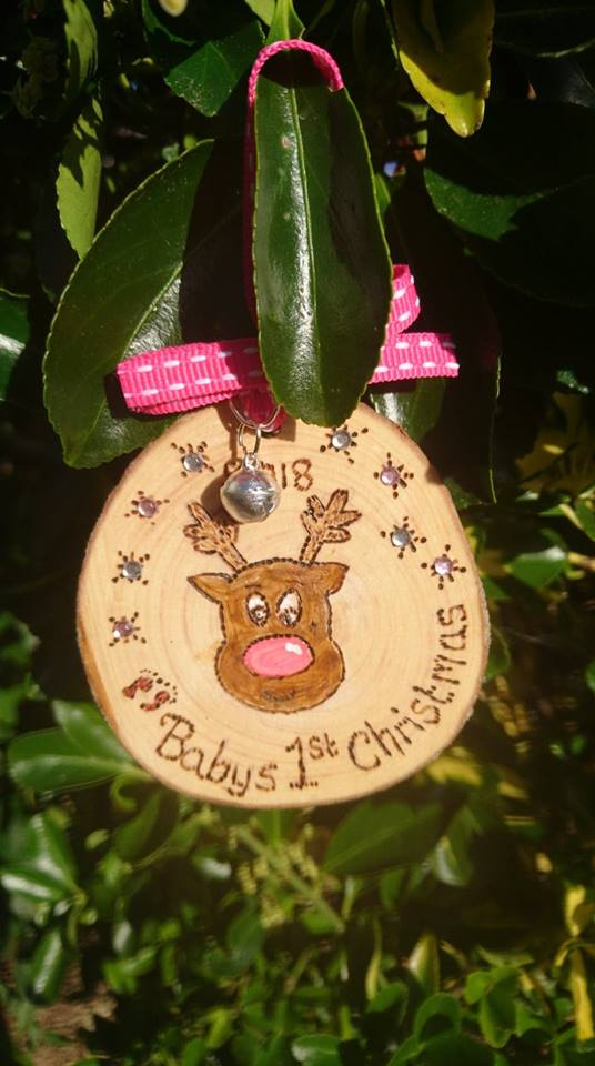 Baby reindeer christmas decoration